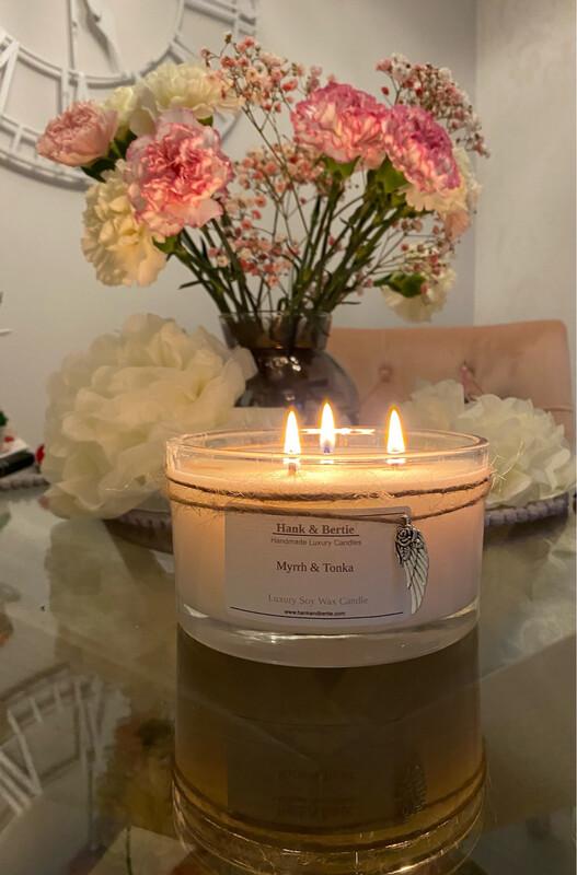 Myrrh & Tonka Deluxe 3 Wick Candle 55cl