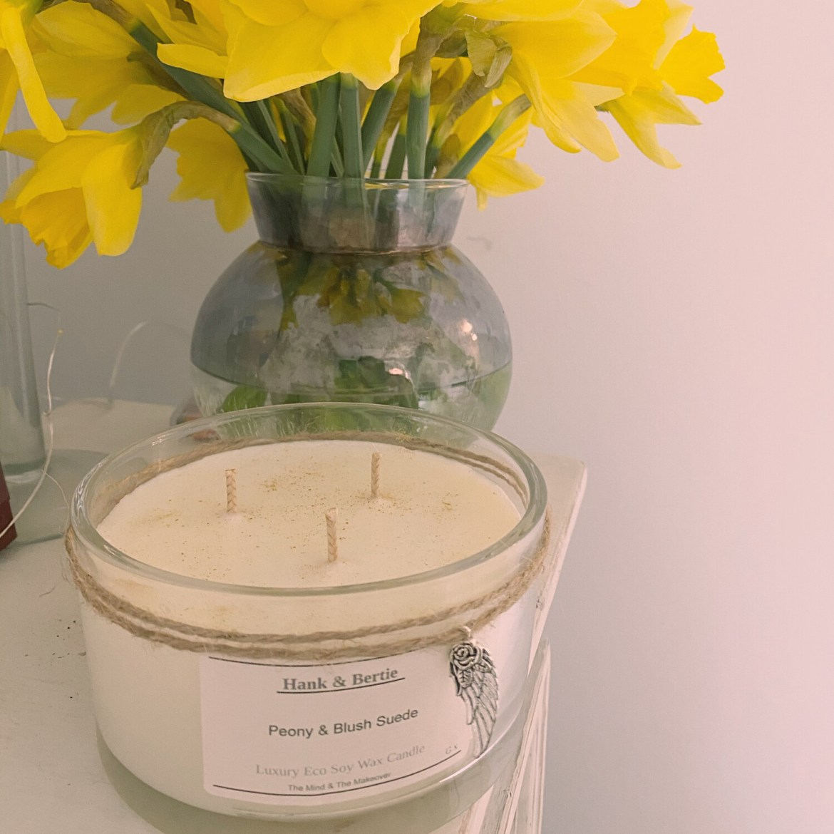 Peony & Blush Suede 55cl Deluxe Candle