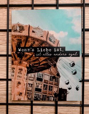 """Postkarte """"Wenn's Liebe ist ..."""""""