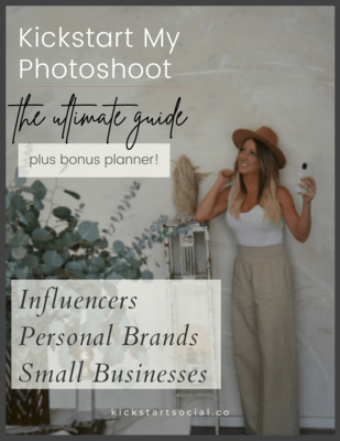 Kickstart My Photoshoot Guidebook