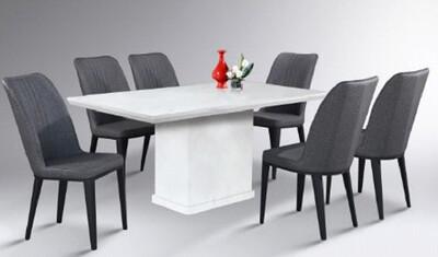Custom Made Vercey Marble Dining Set