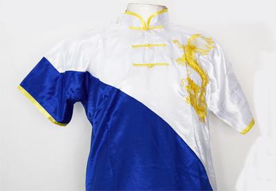 Uniforme de Wushu Chang Chuan Azul/Blanco