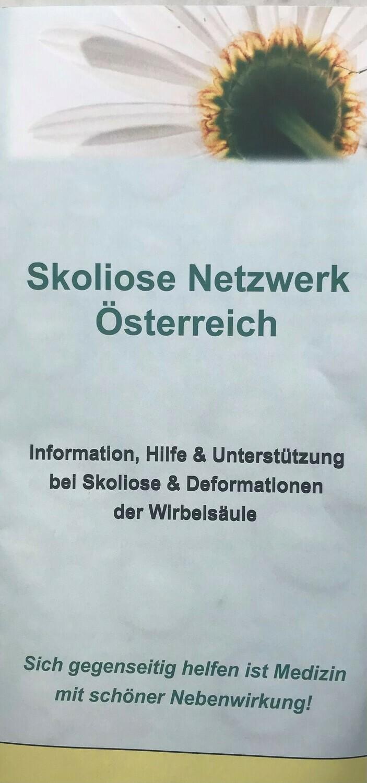 Flyer Skoliose Netzwerk Österreich