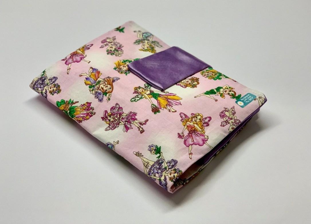 Tasche für Kissen - Elfen/Lila Seide