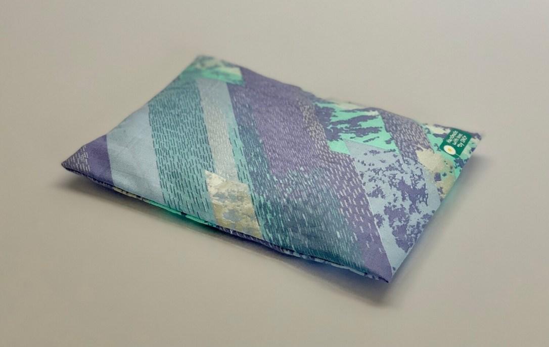 Kissen - Blau/Türkis/Silber