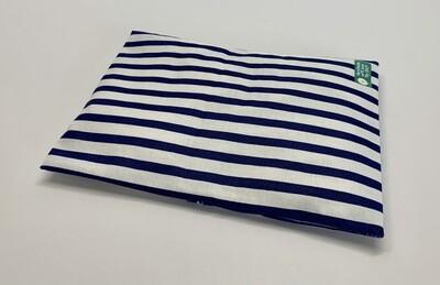 Kissen - blau/weiß gestreift