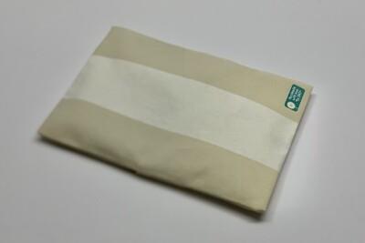 Kissen -Streifen weiß/beige