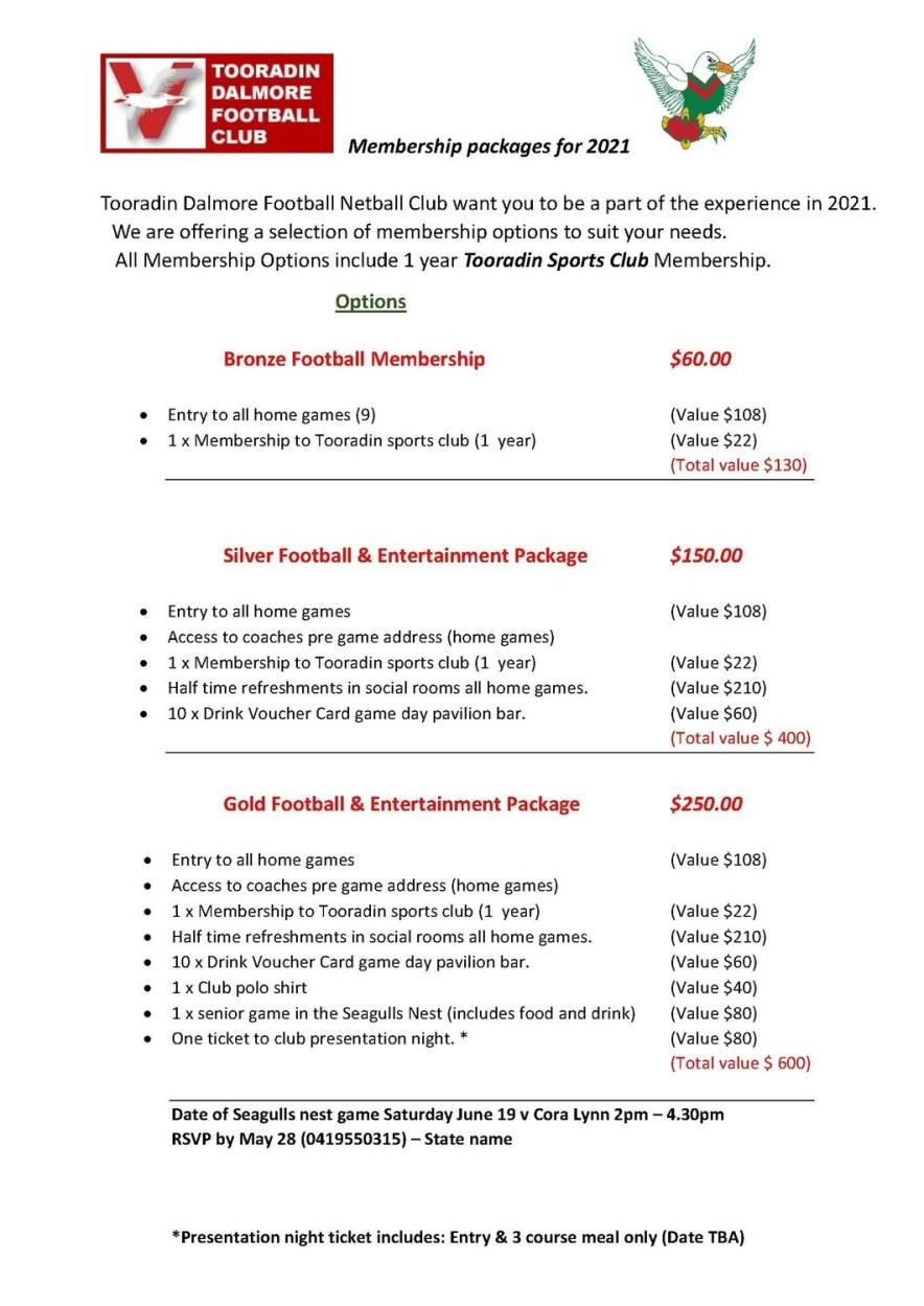 Bronze Football Membership
