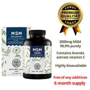 Nature love MSM 2000 mg + vitamin C