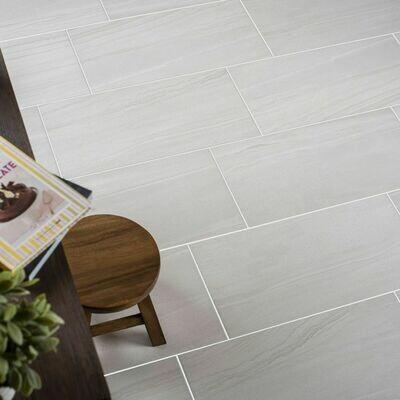 Blanco Matt Stone Porcelain Tiles 60 x 30 cm