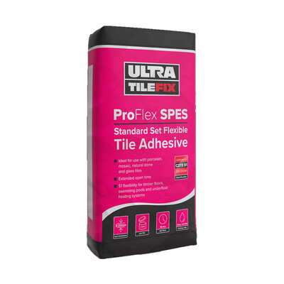 Ultra Tile Fix Pro Flex SP+ES Standard Set Wall Floor Adhesive S1 - White