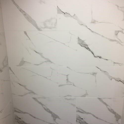 Matt White Marble Ceramic Wall Tiles 60 x 30 cm