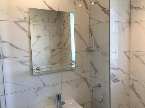Calacatta Gloss Grey Ceramic Tiles 60 x 30 cm