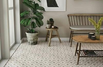 Charcoal Retro Porcelain Tiles 33 x 33 cm