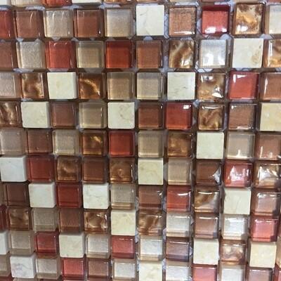 Copper Mosaic Glass Mosaic 30 x 30 cm