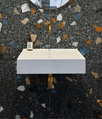 Piazza Porcelain Geo Graphite 80 x 80 cm