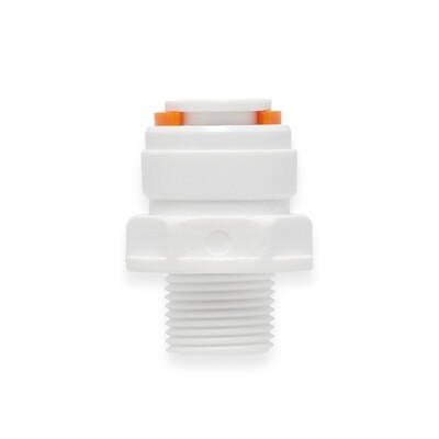 """12mm to 1/2"""" Male thread connector"""
