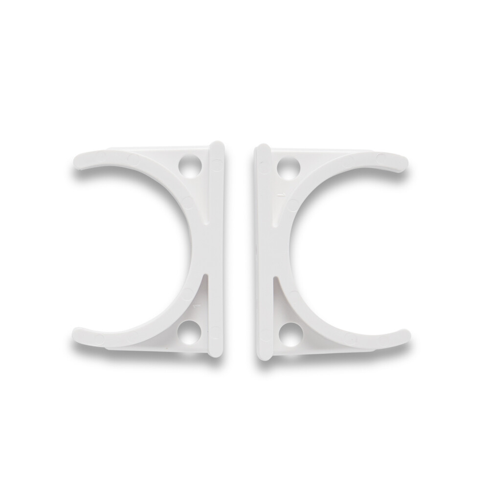 Set of 2 White Filter C-Clamp clips