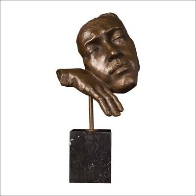 Skulptur i brons och marmor