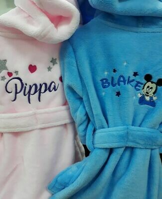 Embroidered Child's Dressing Gown