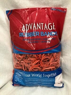 Advantage Rubber Bands, size 30, one bag