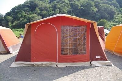 マルシャル スーパー6 6人用 フルコットンロッジ ブラウン/オレンジ
