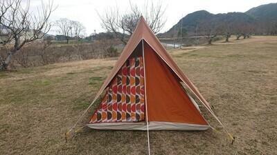 マルシャルプリマベーラ160 ブラウン 2-3人用 美品 コットンテント ソロキャンプ Marechal