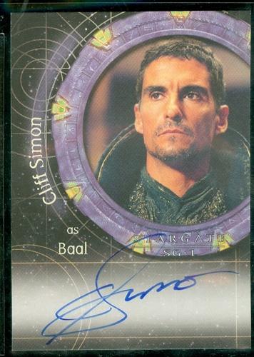 a 34 cliff simon as baal autograph card