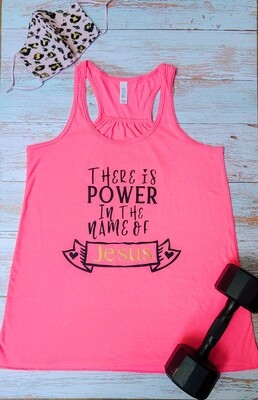There is Power in the Name of Jesus Racerback Tank