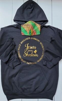 Jesus Gives Shalom Hoodie