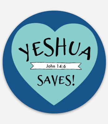 Yeshua Saves - Circle Sticker