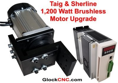 Sherline & Taig Brushless Motor Upgrade 1,200 Watt CNC Controllable