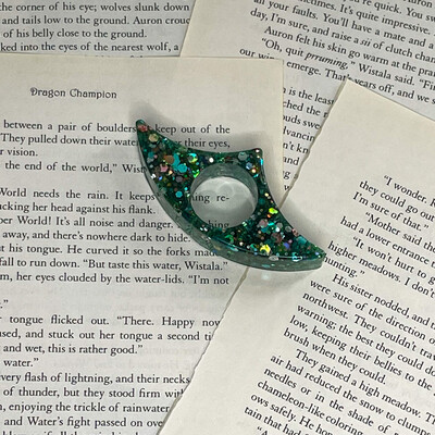 Green Sparkle Book Page Holder