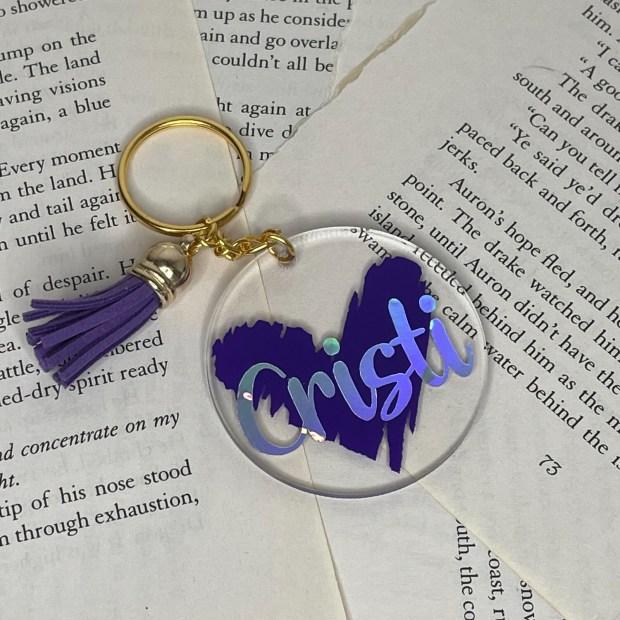 Heart Name Acrylic Keychain
