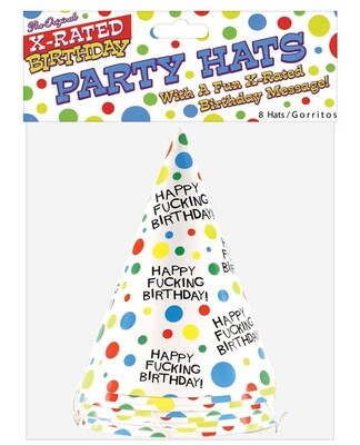 Happy Fucking Birthday Hats - Bag Of 8