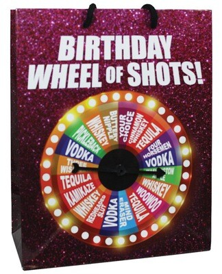 Birthday Wheel Of Shots....spinner Gift Bag