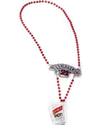 Legally 21 Shot Glass Necklace