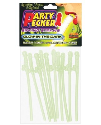 Bachelorette Party Pecker Sipping Straws -Pack Of 10