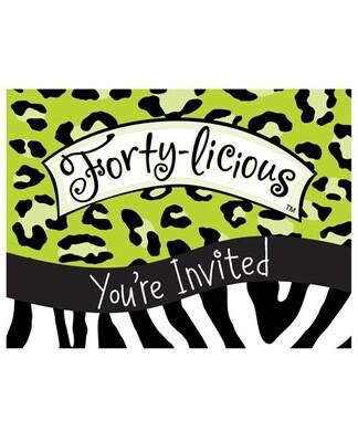 Forty-licious Invitation