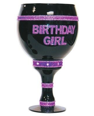 Birthday Girl Over Sized Goblet - Black