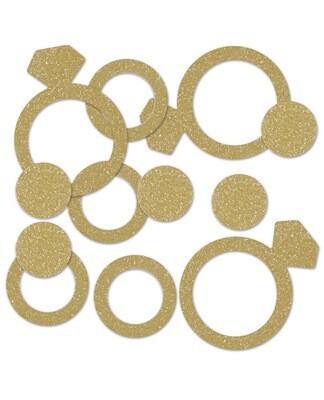 Diamond Ring Deluxe Sparkle Confetti - Gold