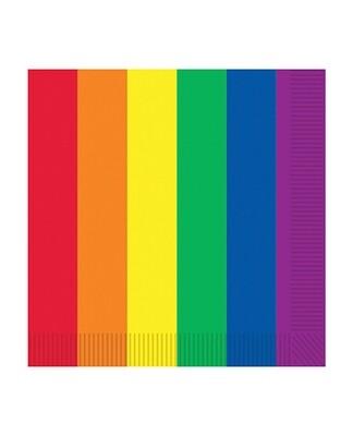 Pride Luncheon Napkins - Rainbow Pack Of 16