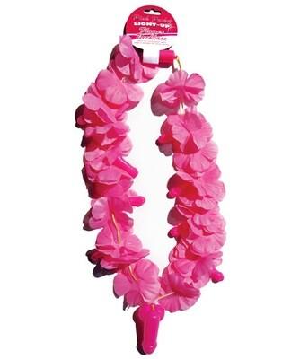 Light Up Flower Pecker Necklace - Pink