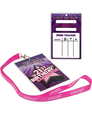 Night To Remember 21st Birthday Bar Badge By Sassigirl - Purple
