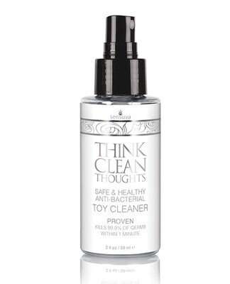 Sensuva Think Clean Thoughts Anti Bacterial Toy Cleaner - 2 Oz Bottle