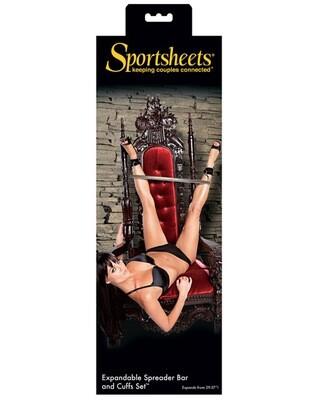 Sportsheets Expandable Spreader Bar & Cuffs Set