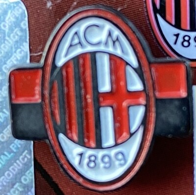AC Milan (Italy) Logo Pin Badge Red and White Background