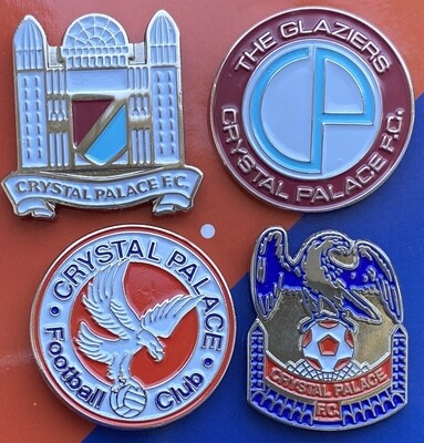 Crystal Palace (England) Old Logos Pin Badges Set