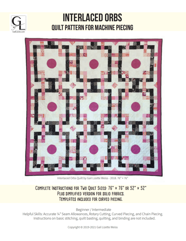 Interlaced Orbs Quilt Pattern - PDF Download