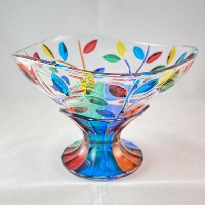 Venetian Glass Dish  - Handmade in Italy, Colorful Murano Glass Bowl